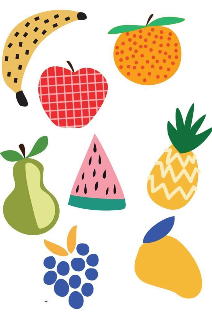 Tattoo Temporária Salada de Frutas