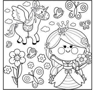 Art Kits Tela Princesa