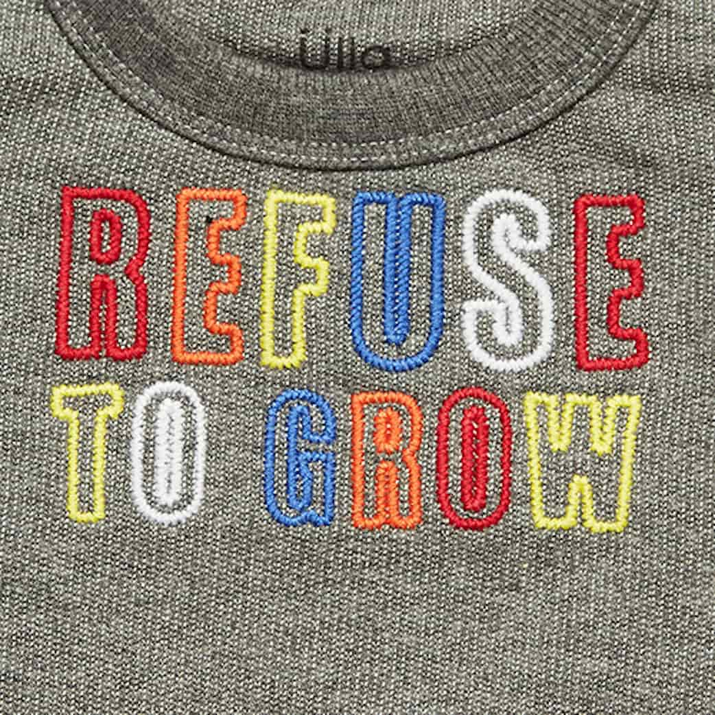 KIT MOLETOM REFUSE TO GROW + CAMISETA ROLL IT
