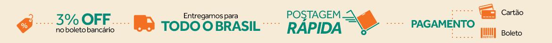 política de envio e pagamento