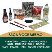 KIT FAÇA VOCÊ MESMO - TEMPERO PARA SUSHI E SHOYU LIGHT / SUSHI TEMAKI MAKIMONO NIGUIRI - 10 ITENS