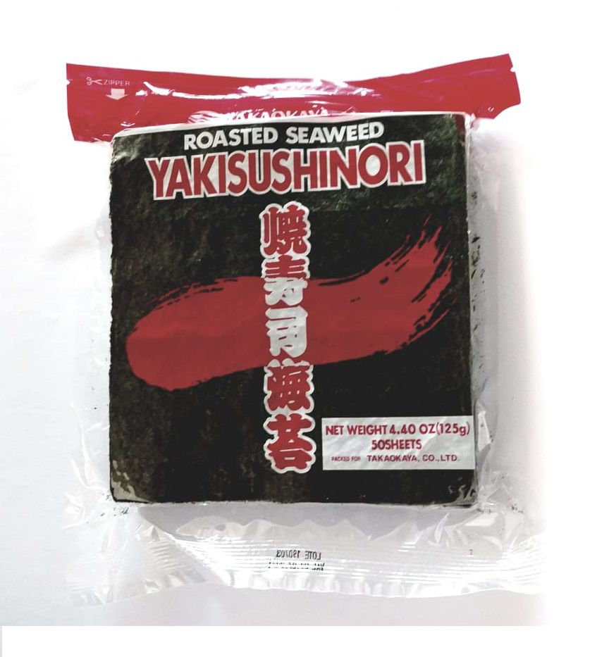 ALGA MARINHA NORI RED YAKISUSHINORI SUSHI E TEMAKI 50 FLS - 125G