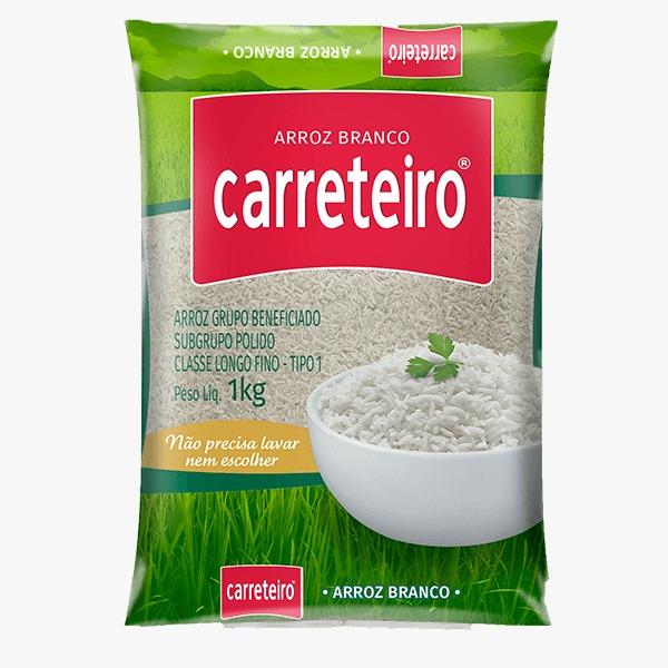 ARROZ BRANCO CARRETEIRO 1KG