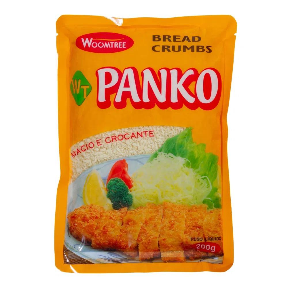 FARINHA PARA EMPANAR PANKO BREAD CRUMPS WOOMTREE  200 G