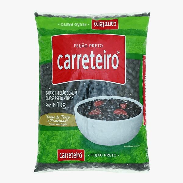 FEIJÃO PRETO CARRETEIRO 1KG