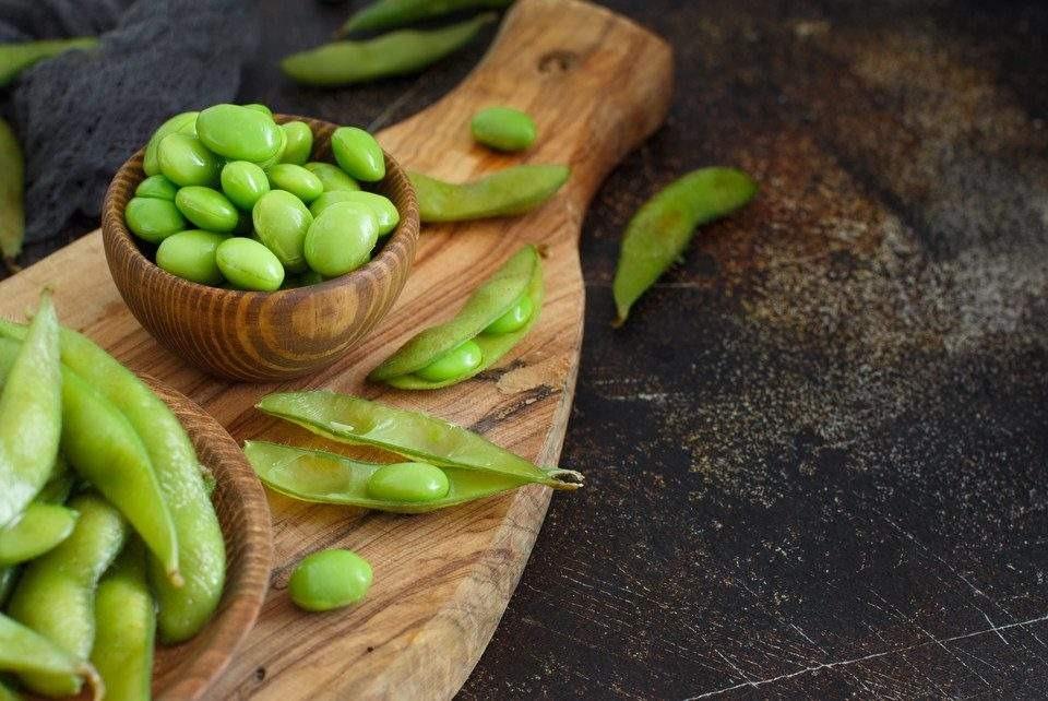 Soja Verde na Vagem Pré-cozida e Congelada Edamame Taichi 500g
