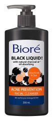 "Bioré Black Liquid ""Charcoal"" Acne Prevention Facial Cleanser 200ml"