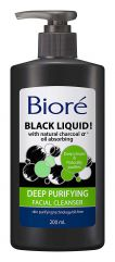"Bioré Black Liquid ""Charcoal"" Deep Purifying Facial Cleanser 200ml"