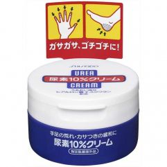 Kit Shiseido Urea 10% Cream + Daiso Silky Smooth Heel Moisture Support