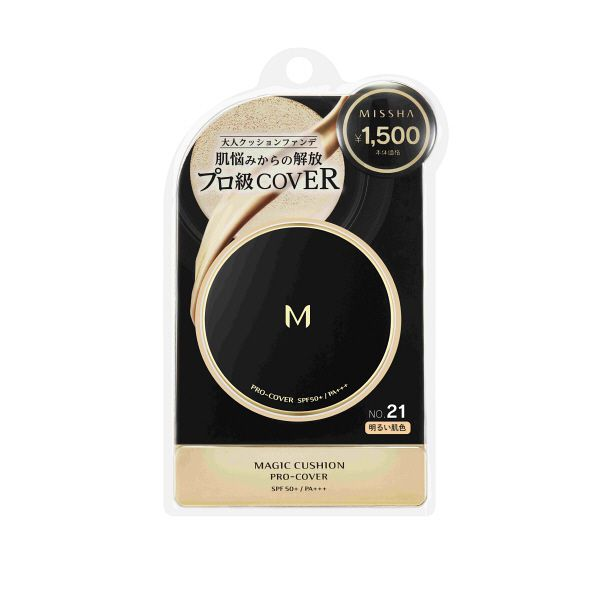 Missha M Cushion Foundation Pro-Cover SPF 50+ PA+++ 15g