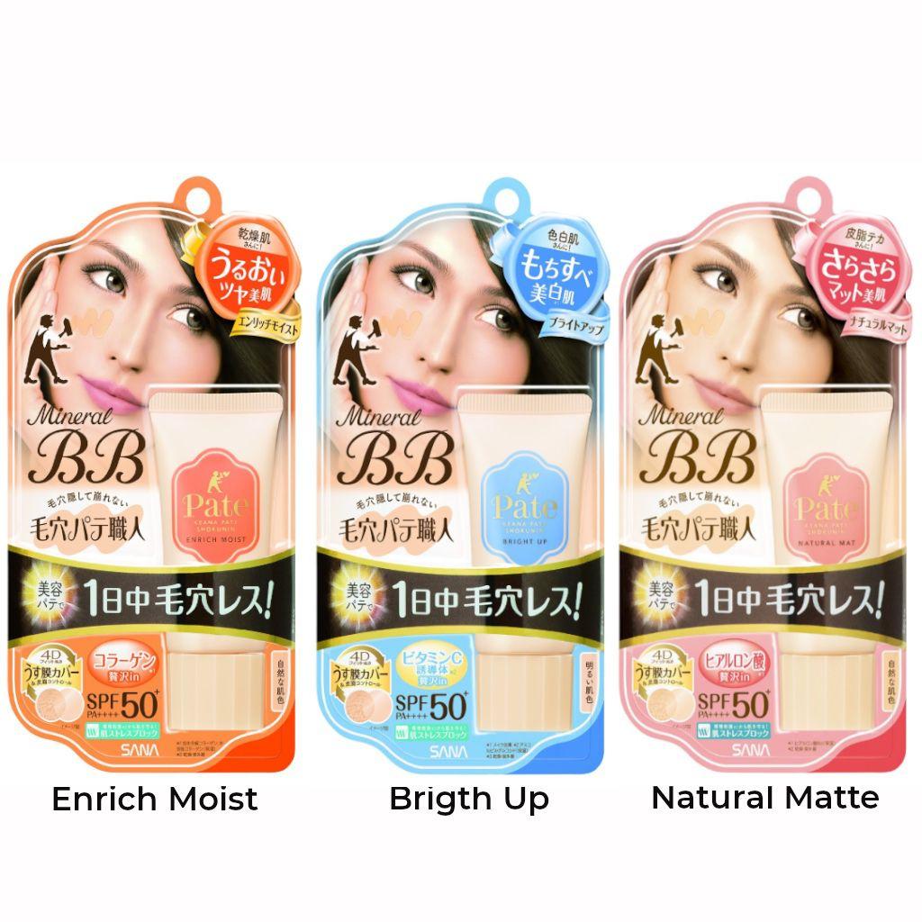 Sana Pore Putty Mineral BB Cream SPF50+ PA++++ 30g