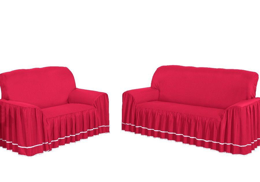 Capa de Sofá Dália  para 3 e 2 Lugares Vermelha