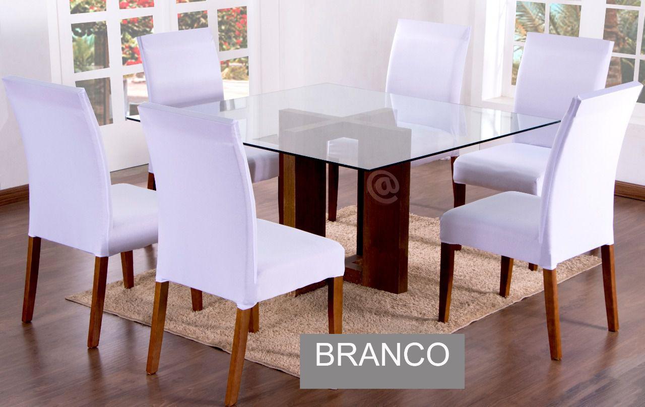 Capa para cadeira com estofado  Kit com 06 Unidades- BRANCO