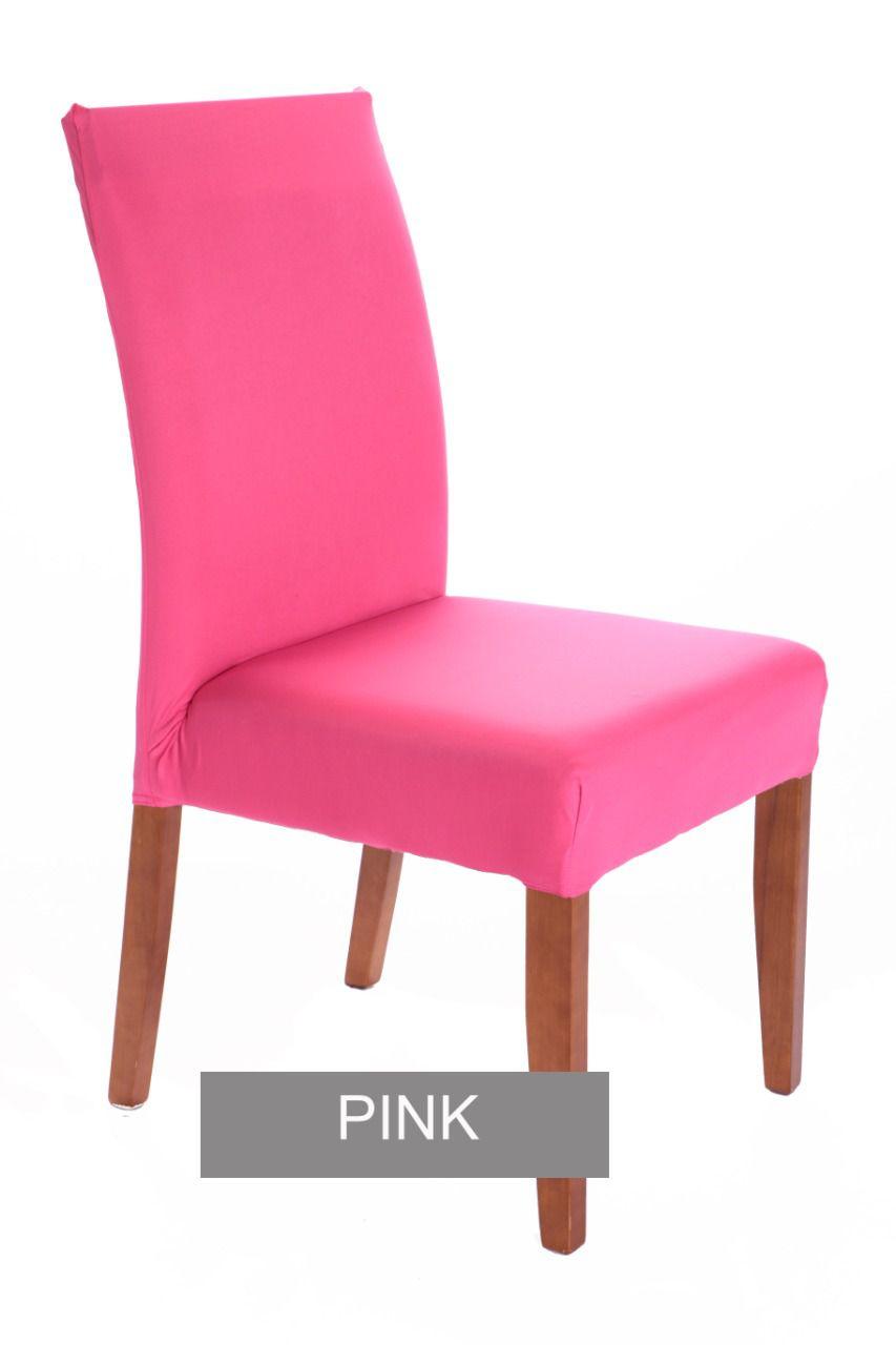 Capa para cadeira com estofado  Kit com 06 Unidades- PINK