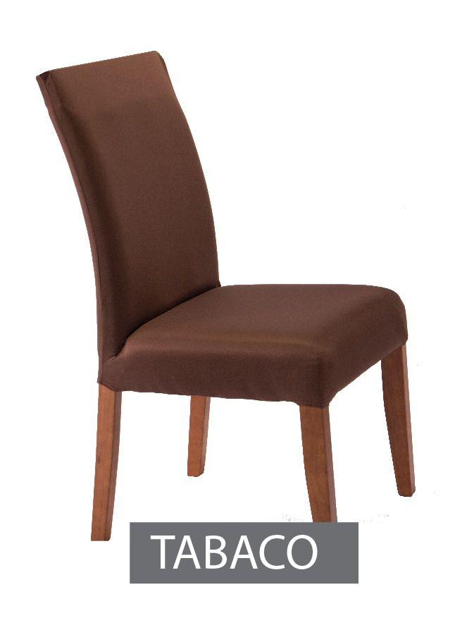 Capa para Cadeira com Estofado- KIt com 4 Unidades  Cor Tabaco