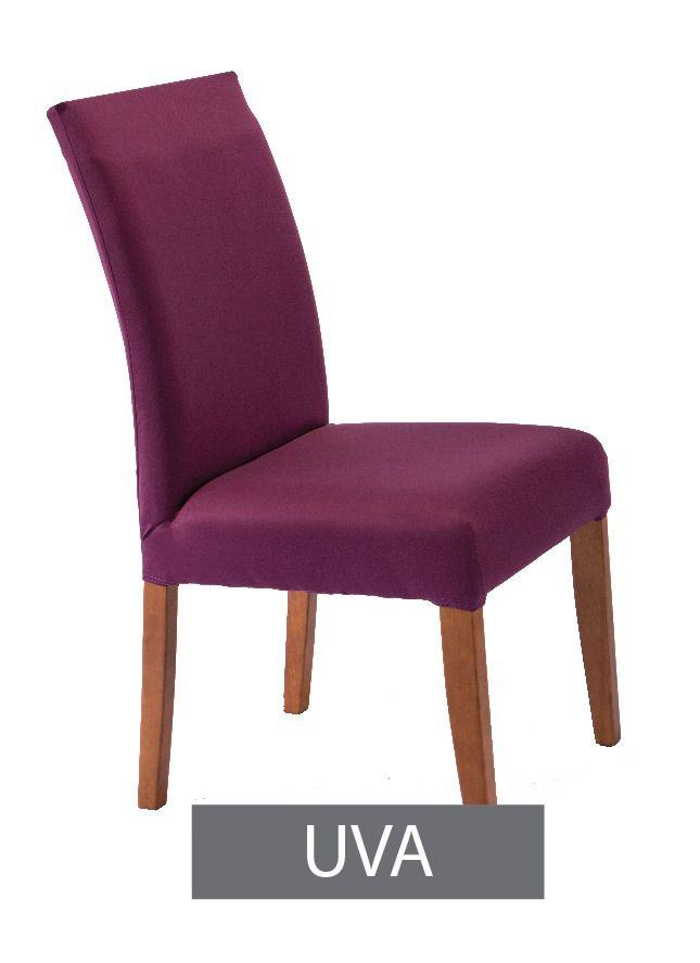 Capa para Cadeira com Estofado- KIt com 4 Unidades  Cor Uva
