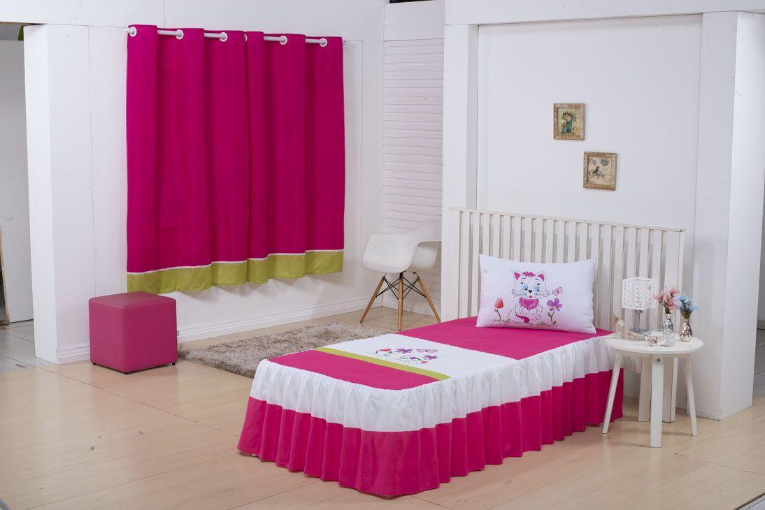 Colcha Kids Solteiro 02 Peças Pink