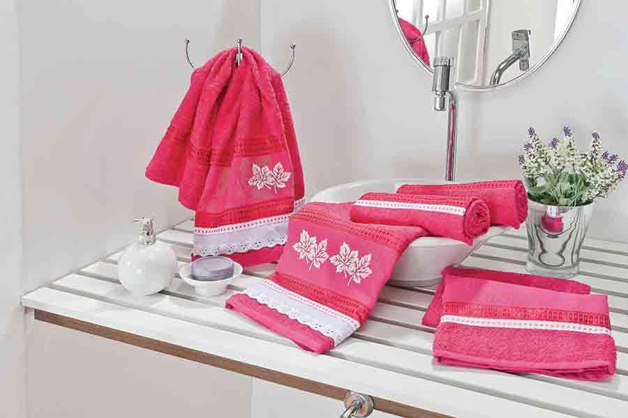 Jogo de Banho Europa 05 Peças Pink