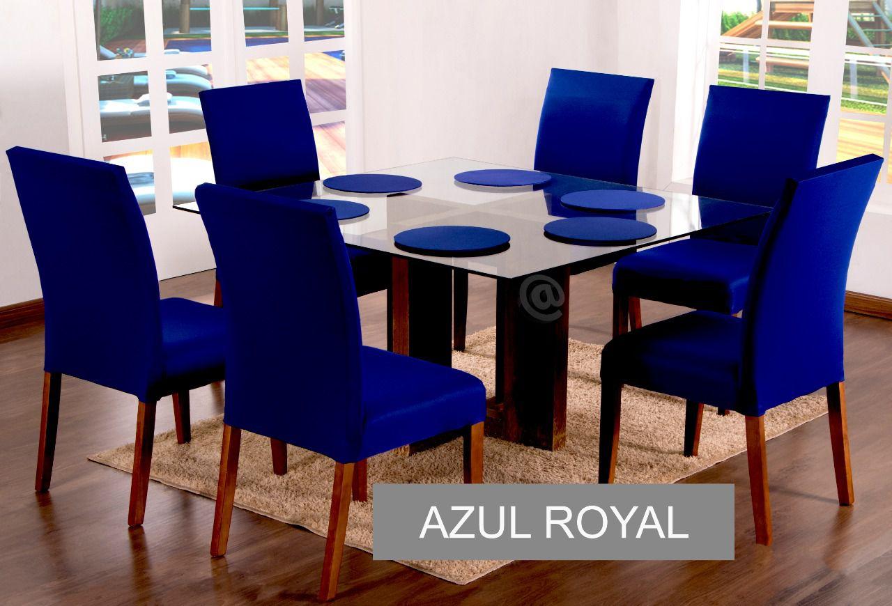 KIT SOUSPLAT  COM 4 UNIDADES  AZUL ROYAL