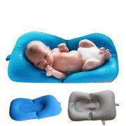Almofada para banho do bebê azul