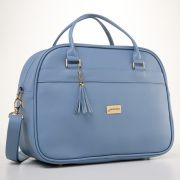 Bolsa maternidade Milão slim Azul - Just Baby