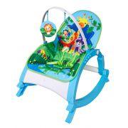 Cadeira de descanso vibratória musical com bandeja removível azul até 11kgs - Colorbaby