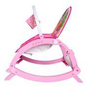 Cadeira de descanso vibratória musical com bandeja removível Rosa até 11kgs - Colorbaby