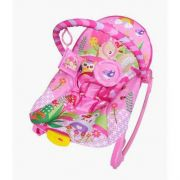 Cadeira de descanso vibratória musical New Rocker rosa color Baby até 18kgs - Colorbaby