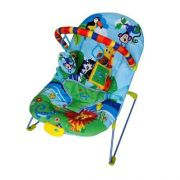 Cadeira de descanso vibratória musical soft ballagio Azul color Baby até 9kgs