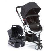 Carrinho de bebê Travel System Mobi Preto e cinza - Safety 1st