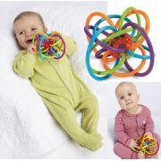 Chocalho e mordedor para bebês - Trançado