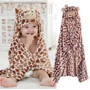 Cobertor de bebê bichinhos Girafa Marrom
