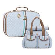 Conjunto Bolsa maternidade monarchy azul kit 02 peças mala + bolsa G - Lequiqui