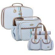 Conjunto Bolsa maternidade Monarchy azul kit 03 peças - Lequiqui