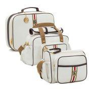 Conjunto bolsa maternidade Oxford branca 03 peças - Lequiqui