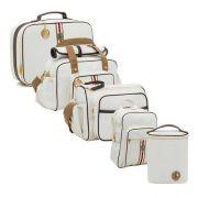 Conjunto bolsa maternidade Oxford branca 05 peças - Lequiqui