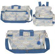 Conjunto de bolsa maternidade - Coleção estampados - Barquinho