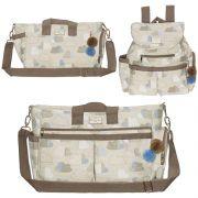 Conjunto de bolsa maternidade - Coleção estampados - Nuvem