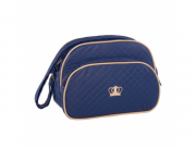 Conjunto de bolsa maternidade - Coroa Azul Marinho
