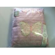 Jogo de lençol padrão americano 3pçs Borboleta rosa