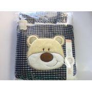 Jogo de lençol padrão americano 3pçs Cachorro Azul
