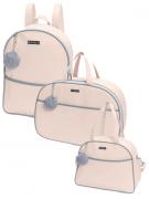 Kit bolsa de maternidade com mala e mochila Rosa Berlim - 3 pçs - Hug