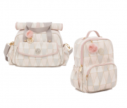 Kit Bolsa maternidade e Mochila Luxor rosa - Lequiqui