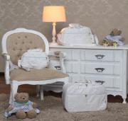Kit Bolsa  Maternidade Glamour Branco  03 pçs