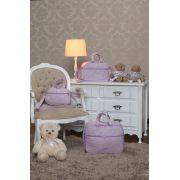 Kit Bolsa  Maternidade Glamour Lilas 03 pçs