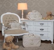 Kit Bolsa  Maternidade Glamour Palha  03 pçs