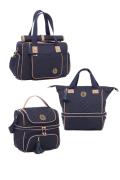kit de Bolsa, frasqueira e mochila Maternidade Azul Marinho Atlanta - Lequiqui