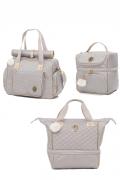 kit de Bolsa, frasqueira e mochila Maternidade cinza Atlanta - Lequiqui