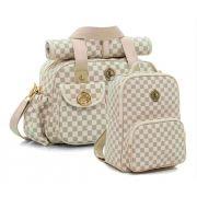 Kit de bolsas Maternidade e mochila Escocesa caramelo - Lequiqui