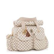 Kit de mala de maternidade e bolsa escocesa caramelo - Lequiqui